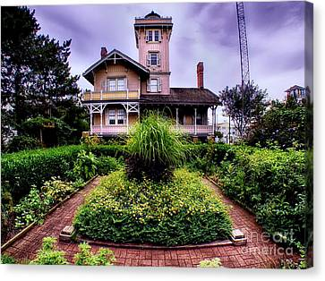 The Gardens Of Hereford Inlet Lighthouse Canvas Print by Mark Miller