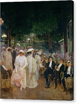 The Gardens Of Paris, Or The Beauties Of The Night, 1905 Oil On Canvas Canvas Print