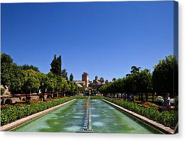 The Gardens Of The Alcazar De Los Reyes Canvas Print by Panoramic Images