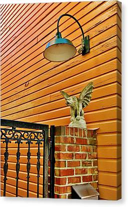The Gargoyle At The Gate Canvas Print by Jean Goodwin Brooks