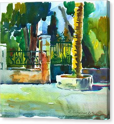 The Gate At Stella Maris Canvas Print by Anna Lobovikov-Katz