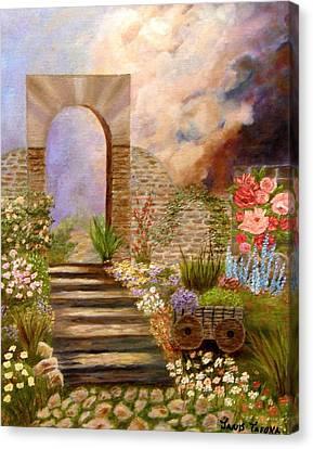 The Gate Canvas Print by Janis  Tafoya