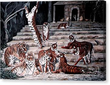 The Gathering Canvas Print by DiDi Higginbotham