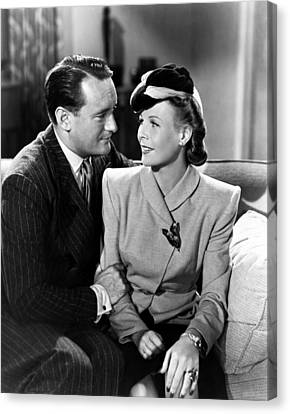 1941 Movies Canvas Print - The Gay Falcon, From Left, George by Everett