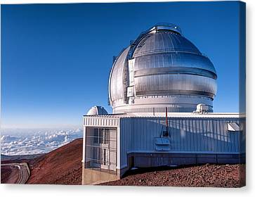 Canvas Print featuring the photograph The Gemini Observatory by Jim Thompson