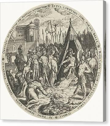 Betrothed Canvas Print - The Generosity Of Scipio, Zacharias Dolendo by Zacharias Dolendo And Hendrick Hondius (i)