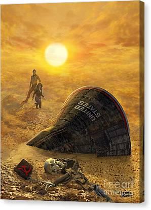 The Genesis Conspiracy Canvas Print by Stu Shepherd