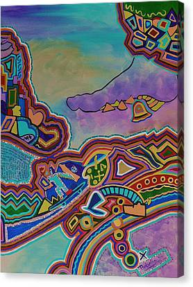 Canvas Print featuring the painting The Genie Is Out Of The Bottle by Barbara St Jean
