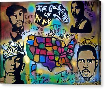 The Geography Of Hip Hop Canvas Print by Tony B Conscious
