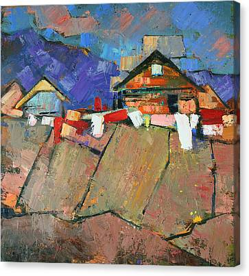 The Geometry Of The Carpathians Canvas Print by Anastasija Kraineva