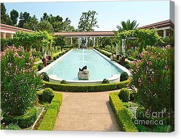 Getty Canvas Print - The Getty Villa Main Courtyard. by Jamie Pham