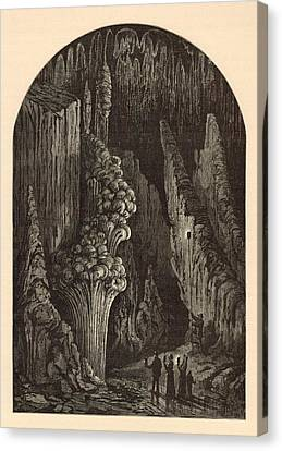 Appleton Canvas Print - The Geyser 1872 Engraving by Antique Engravings