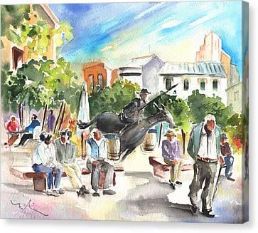 The Ghost Of Don Quijote In Alcazar De San Juan Canvas Print by Miki De Goodaboom