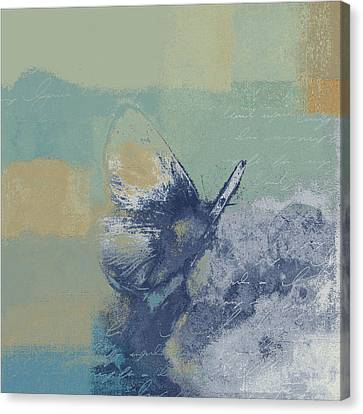 The Giant Butterfly And The Moon - J216094206-c09a Canvas Print by Variance Collections
