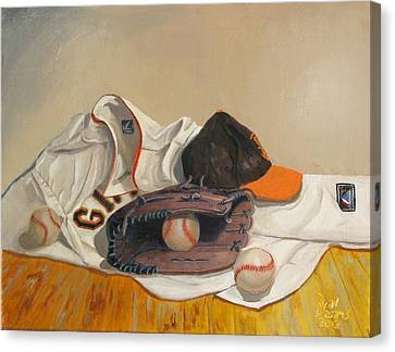 San Francisco Giants Canvas Print - The Giant Sleeps Tonight by Ryan Williams