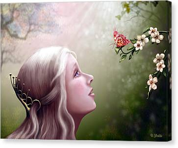 Blonde Canvas Print - The Gift by Britta Glodde