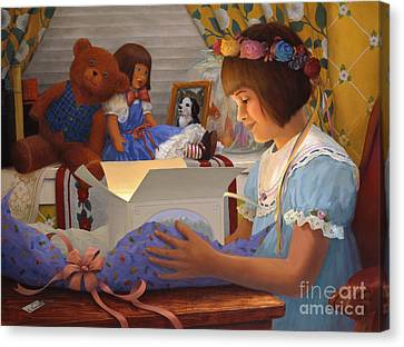 The Gift Canvas Print by Charles Fennen