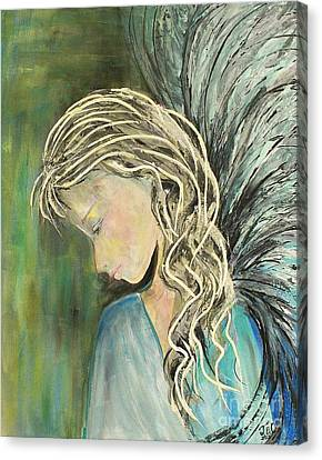 Canvas Print featuring the painting The Gift by Jane Chesnut