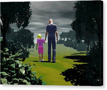 The Gift Of Being 'daddy' Canvas Print