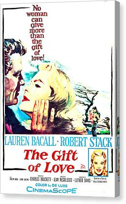 1950s Poster Art Canvas Print - The Gift Of Love, Us Poster, Robert by Everett
