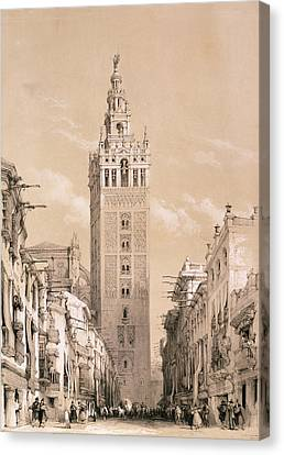 The Giralda, Seville Canvas Print by David Roberts