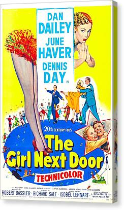The Girl Next Door, Us Poster, June Canvas Print by Everett