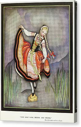 The Girl Who Trod On A Loaf Canvas Print