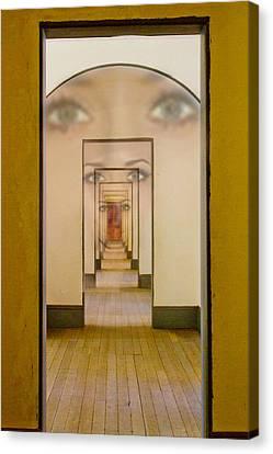 The Girl With Far Away Eyes Canvas Print