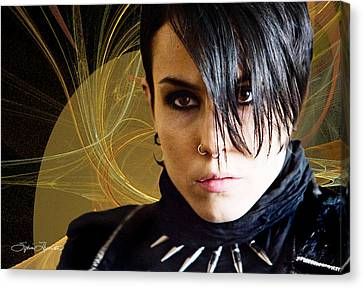 The Girl With The Dragon Tattoo Canvas Print by Sylvia Thornton