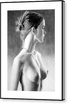 The Girl With The Glass Earring Canvas Print
