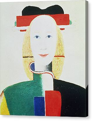 The Girl With The Hat Canvas Print by Kazimir Severinovich Malevich