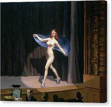 The Girlie Show Canvas Print by Edward Hopper