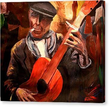 The Gitarrero The Guitarplayer Canvas Print