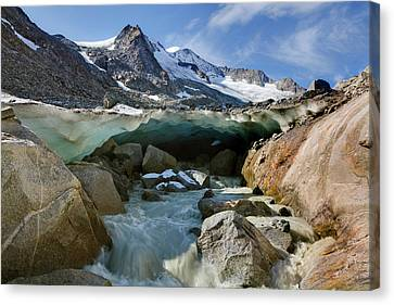 The Glacier Snout With Ice Cave Canvas Print