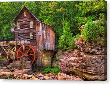Grist Mill Canvas Print - The Glade Creek Grist Mill by Gregory Ballos