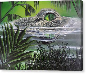 Canvas Print featuring the painting The Glades by Dianna Lewis