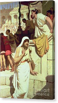 The Gladiators Wife Canvas Print by Edmund Blair Leighton