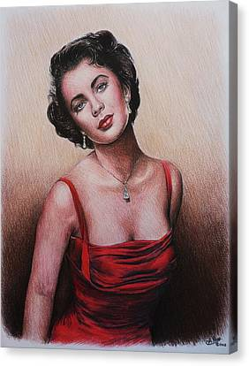 The Glamour Days Elizabeth Taylor Canvas Print by Andrew Read