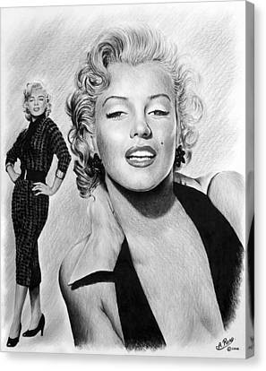 The Glamour Days Marilyn Monroe Canvas Print by Andrew Read