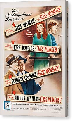 1950 Movies Canvas Print - The Glass Menagerie, Us Poster Art by Everett