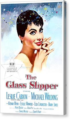 The Glass Slipper, Us Poster, Leslie Canvas Print by Everett