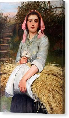 The Gleaner Canvas Print by Charles Sillem Lidderdale