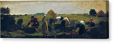 The Gleaners Canvas Print - The Gleaners  by Celestial Images