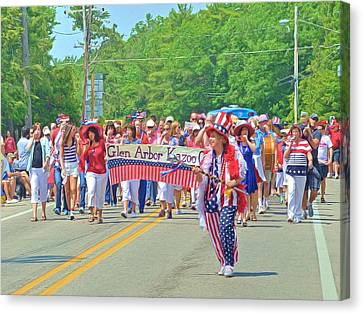 4th July Canvas Print - The Glen Arbor Kazoo Corps by Digital Photographic Arts