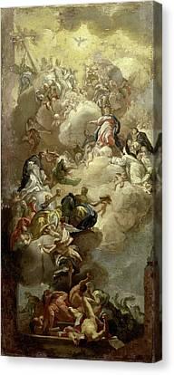 Saint Dominic Canvas Print - The Glorification Of Saint Dominic, Copy After Francesco by Litz Collection