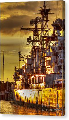 The Glory Days -  Uss Sullivans Canvas Print by Darleen Stry
