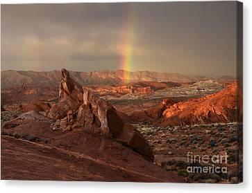 The Glory Of Sandstone Canvas Print by Bob Christopher