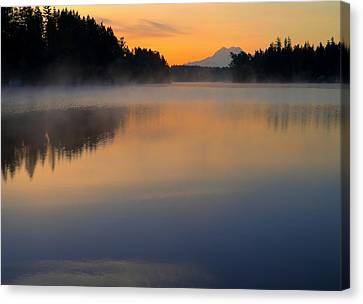 The Glow At Dawn Canvas Print by Peter Mooyman