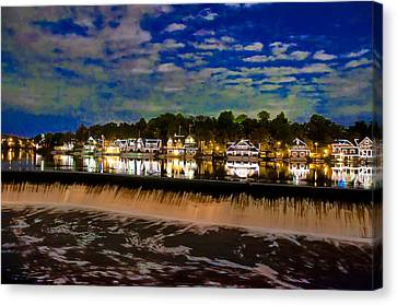 The Glow Of Boathouse Row Canvas Print by Bill Cannon