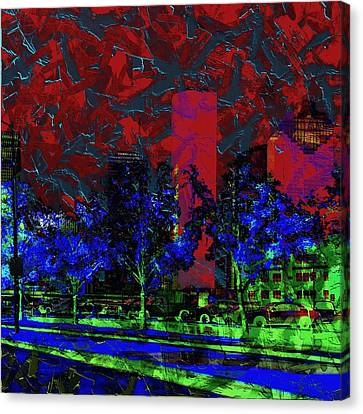 The Glowing City  Canvas Print by Jessica MG